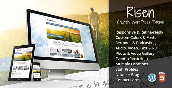 Risen - Church WordPress Theme Responsive