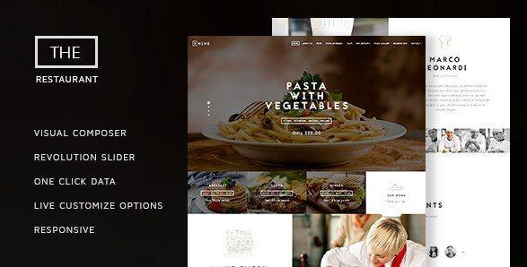 The Restaurant - Restaurant and Catering One Page Theme