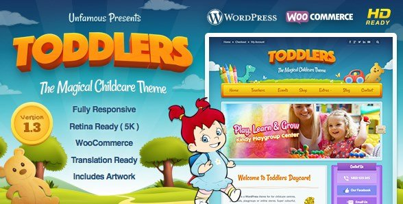 Toddlers - Kids, Child Care & Playgroup WordPress Theme