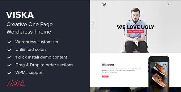 Viska - Creative One Page WordPress Theme