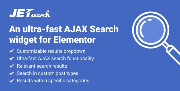 JetSearch – The Fastest AJAX Search For Elementor