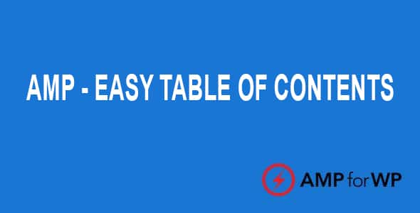 Easy Table Of Contents For AMP
