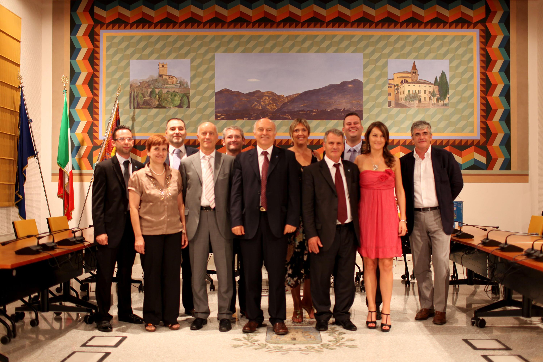 Foto di gruppo dell'amministrazione comunale 2009