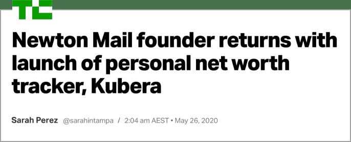 Techcrunch article on Kubera
