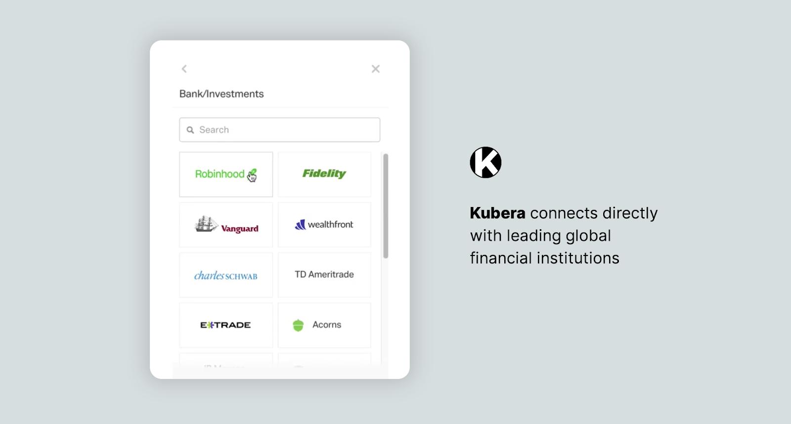 kubera integrations