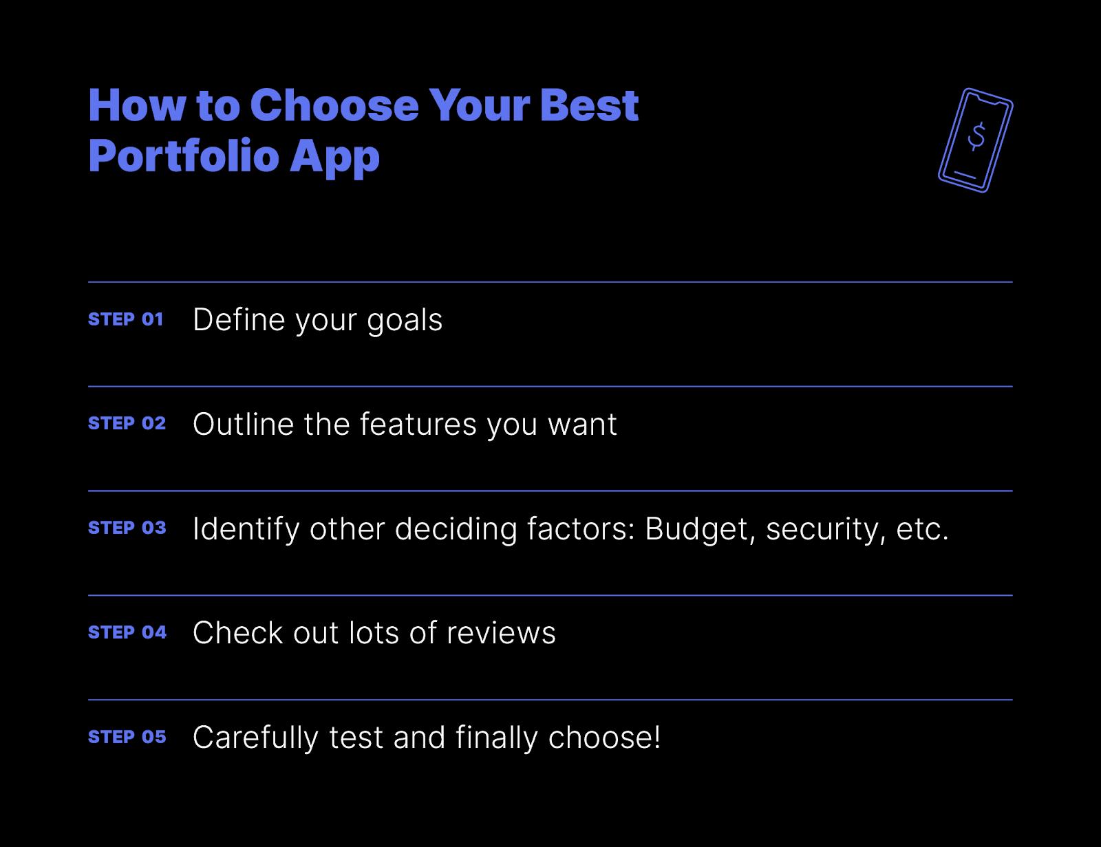 how to choose your best portfolio app