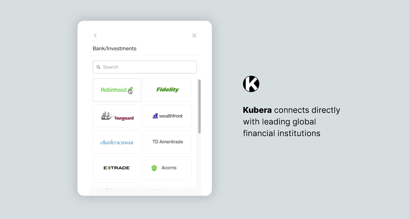kubera bank integrationsKubera: The Only All-in-One Crypto Tool for Diverse Investors