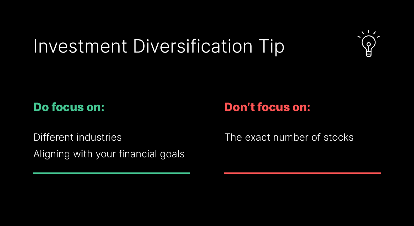 investment diversification tip