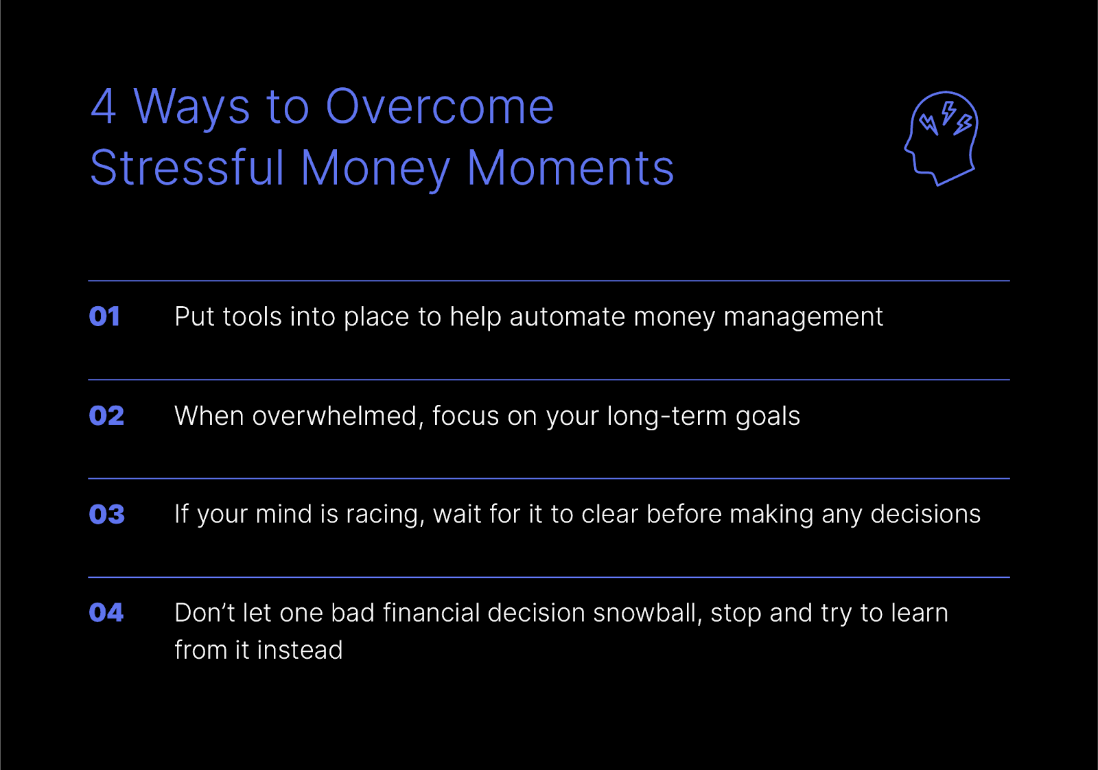 4 ways to overcome stressful money moments
