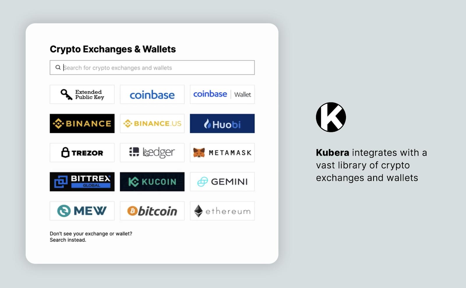 kubera exchanges