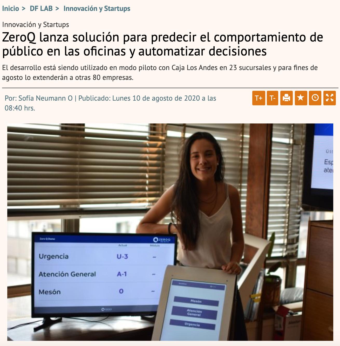 ZeroQ lanza solución para predecir el comportamiento de público en las oficinas y automatizar decisiones
