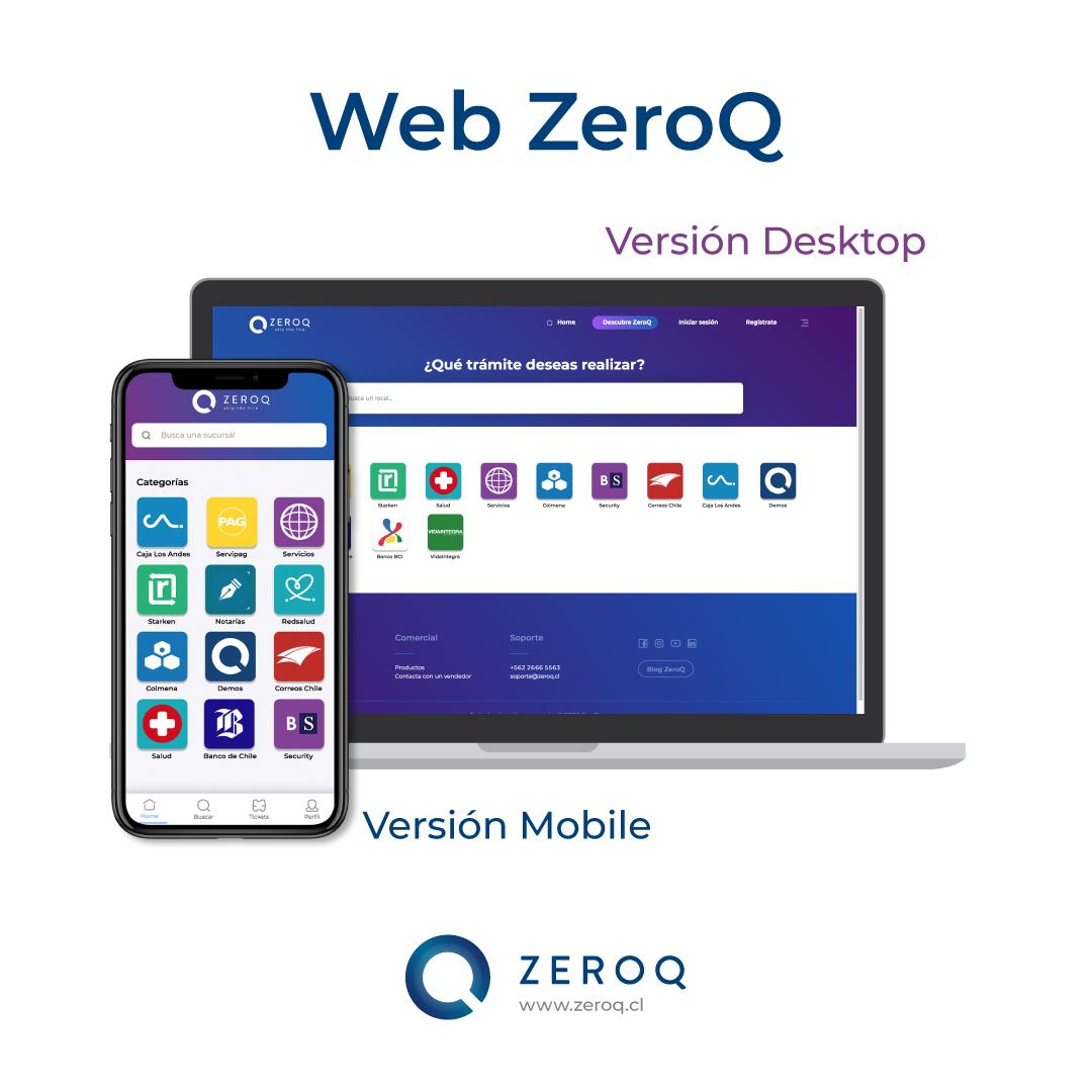 ZeroQ lanza nueva versión de su aplicación web para sacar ticket virtual y reservas
