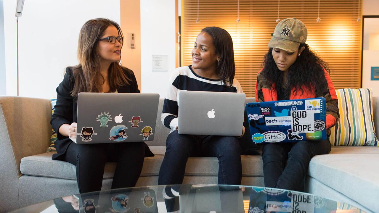 Eblocks women at work