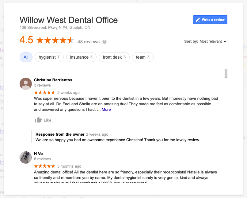 Social proof Google reviews example - Microswift