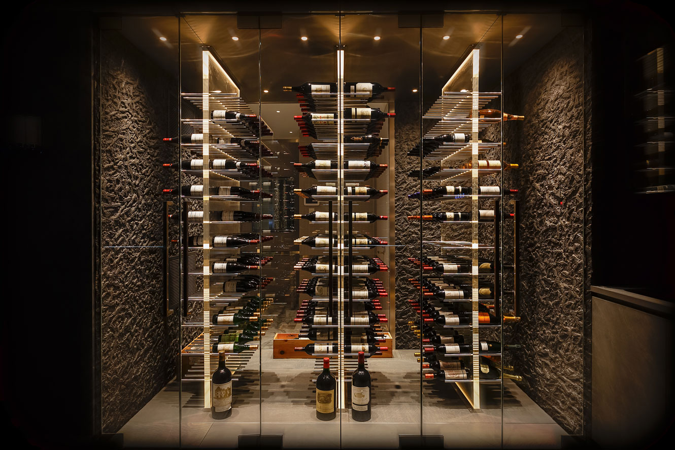 Double Glass Box Custom Wine Cellar