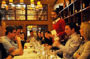 Piero talking about wine