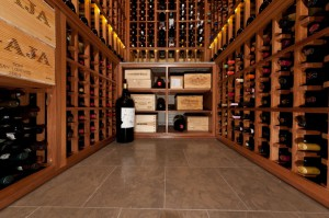 Custom wine cellar in Rittenhouse High-Rise