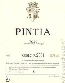 Vega Sicilia Pintia, Toro
