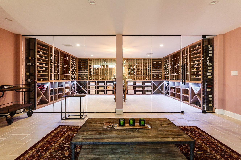 Main Line Pennsylvania Glass Enclosed Wine Room