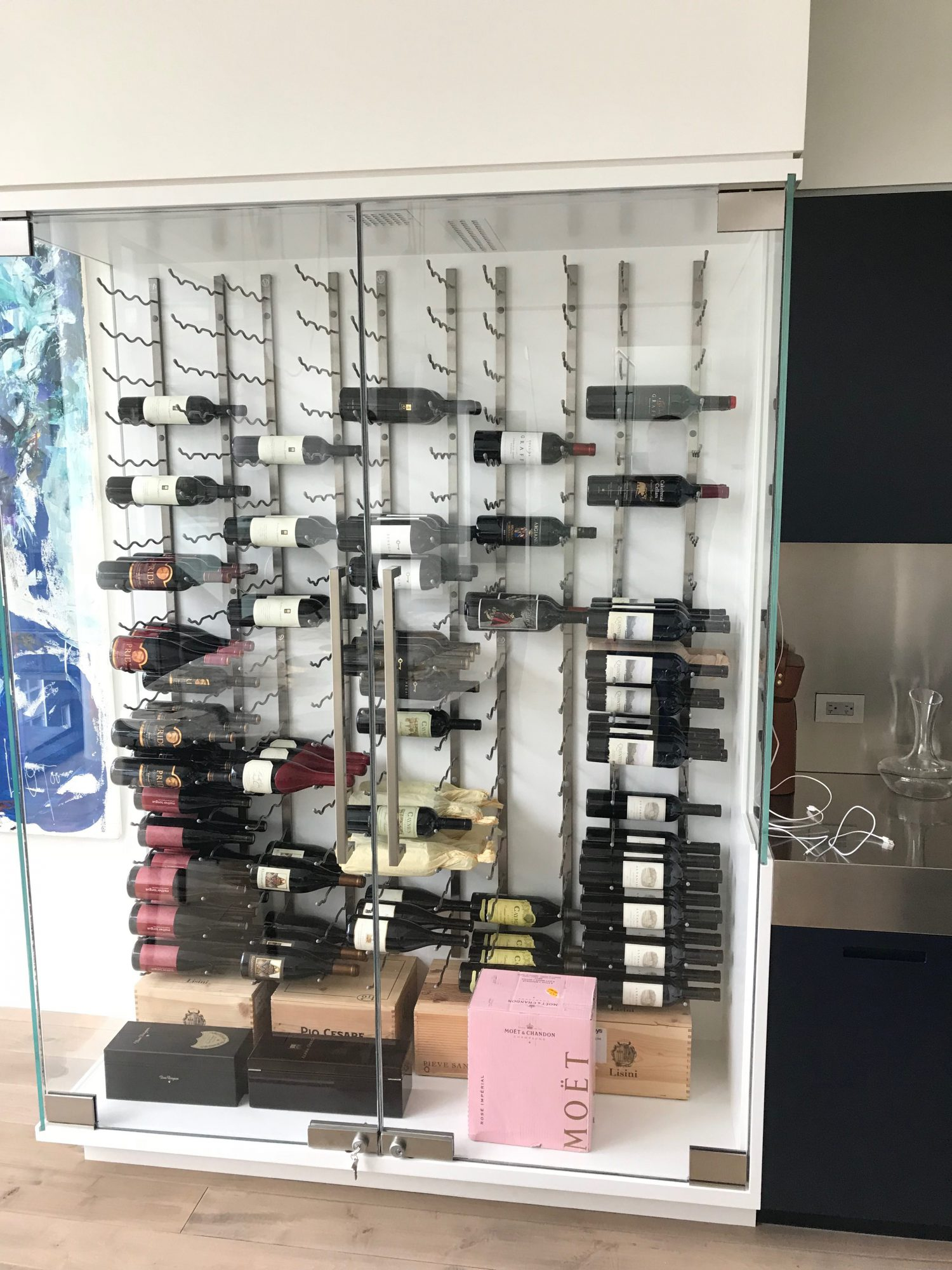 SoHo NYC Custom Wine Cabinet