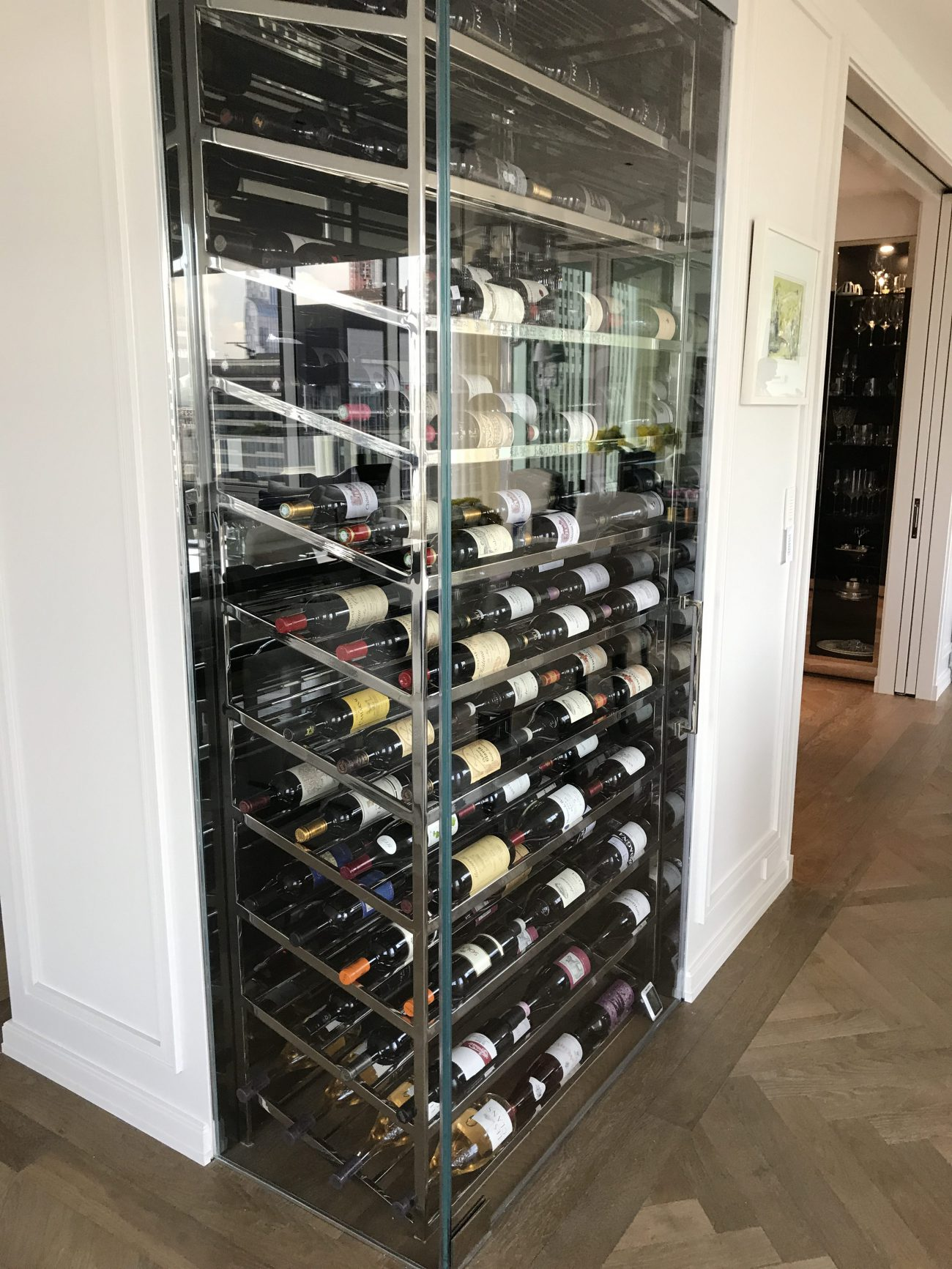 Olympic Tower NYC Custom Wine Cabinet