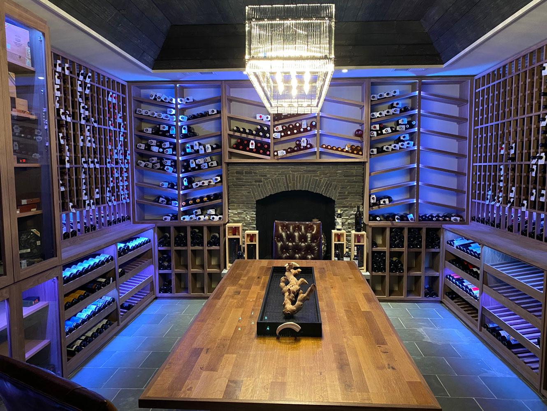 Lake Forest Illinois Custom Wine Cellar