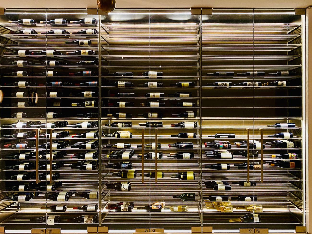 Glass & Steel Custom Wine Cellar