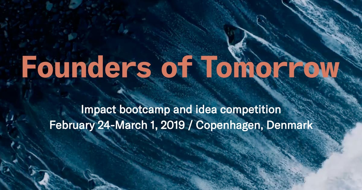 MapLauncher has been invited as a speaker on February 24th, at Founders of Tomorrow (FoT2019) in Copenhagen, Denmark.Founders of Tomorrow 2019 (formerly known as Danske iDeer) is an immersive and inspiring week, focusing on purpose-driven innovation, exponential technologies and entrepreneurship. This year, the theme centers around generating innovative solutions to address the 1.5°C Challenge.