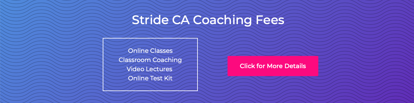 Stride CA Coaching Fees