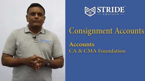 Consignment Accounts CA, CMA Foundation Video Classes