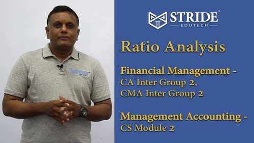 Ratio AnalysisCA, CMA Inter & CS Executive Video Classes