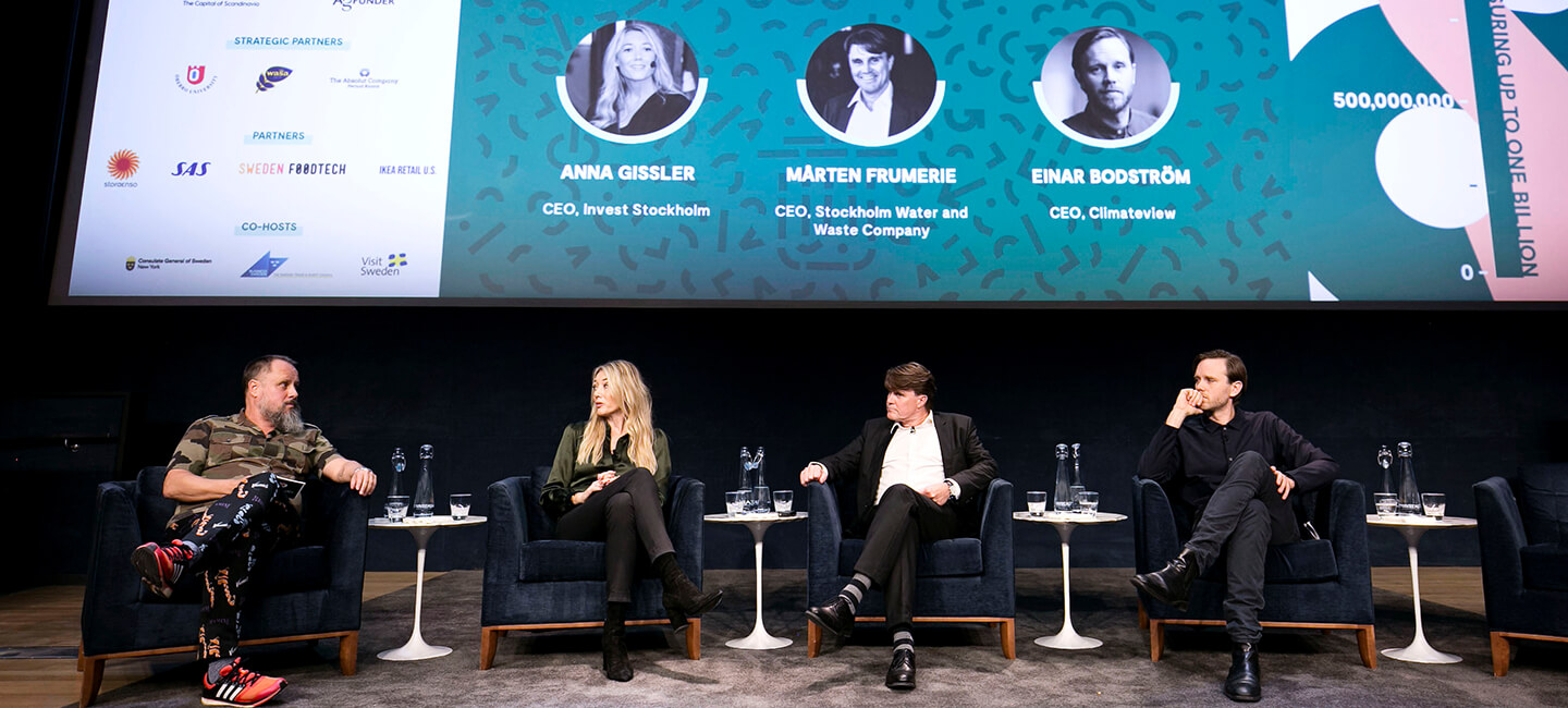 Einar Bodström participated in a panel discussion together with Anna Gissler, CEO at Invest Stockholm and Mårten Frumerie, CEO at Stockholm Water and Waste Company. The topic was Investing in sustainable growth and the session was led by Johan Jörgensen, founder of Sweden FoodTech.