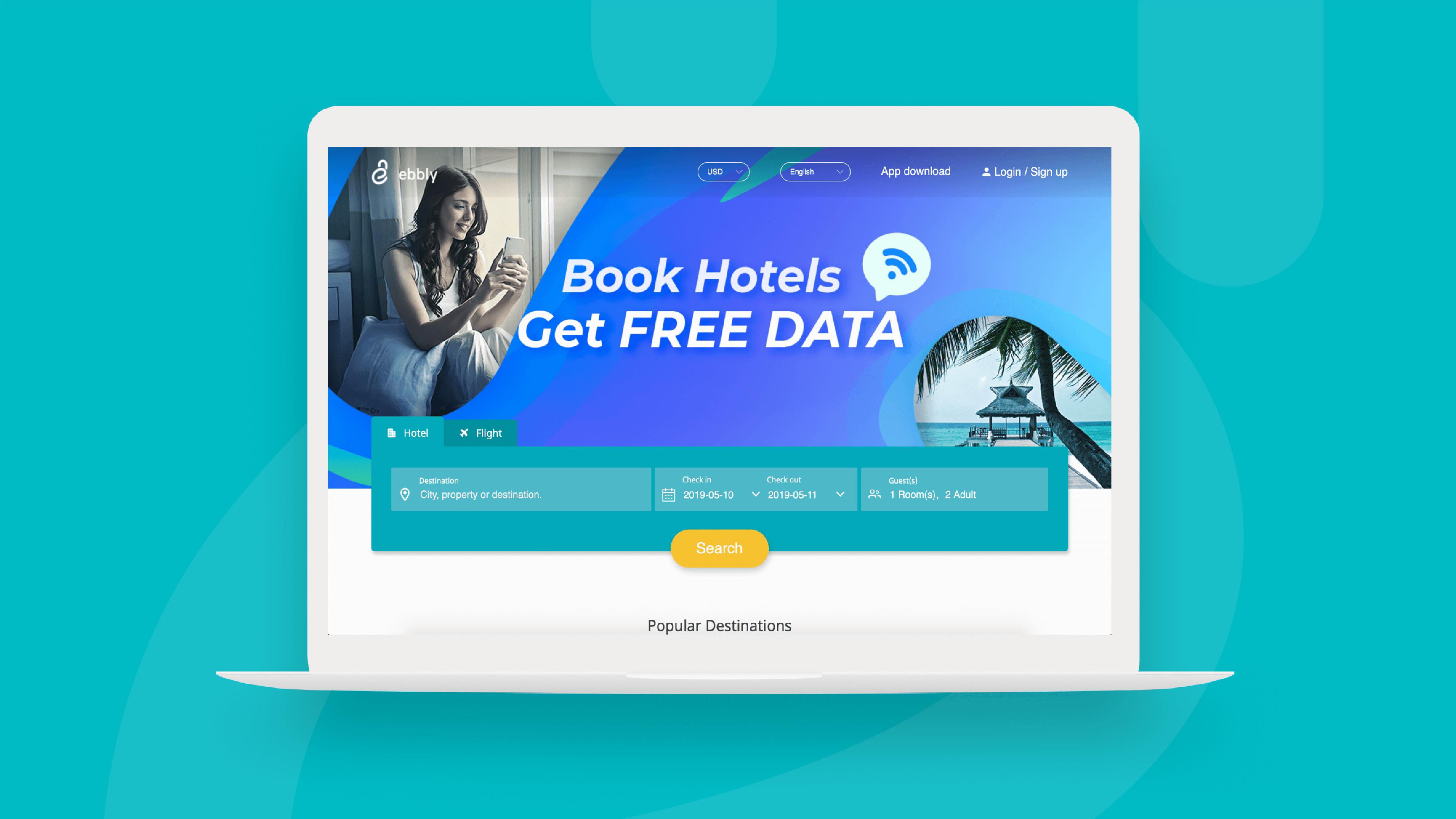 ebbly travel booking platform