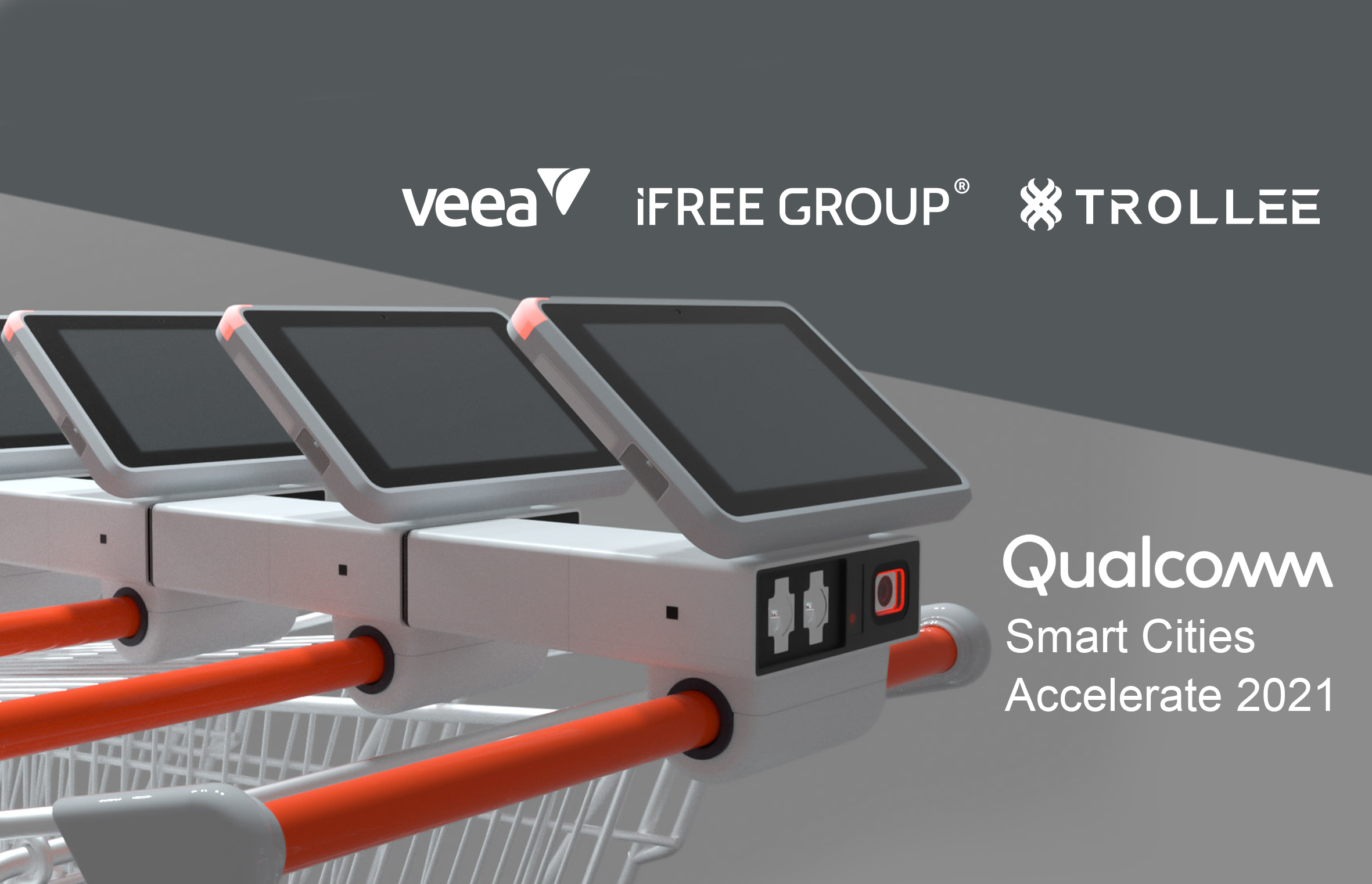 Veea Inc., iFREE GROUP's strategic partner and leader in integrated smart edge connectivity, computing, and security technologies are partnering up with iFREE GROUP on the newest product, TROLLEE. Today, we are glad to announce that we have launched TROLLEE, at Qualcomm's Smart Cities Accelerate 2021, a global customer