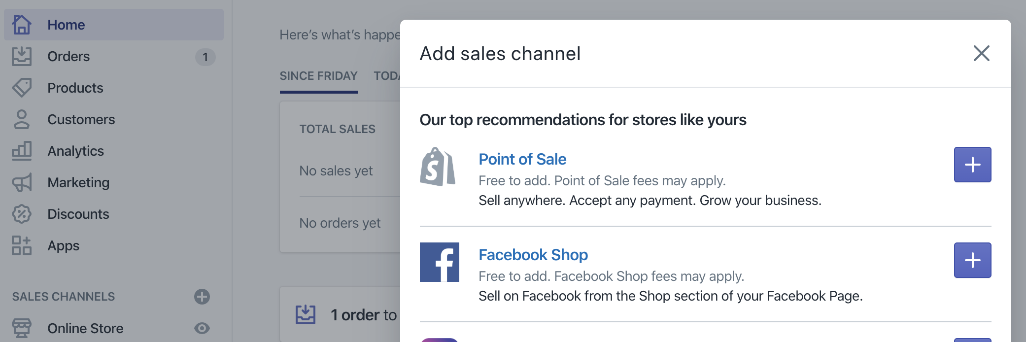 Shopify Sales Channels