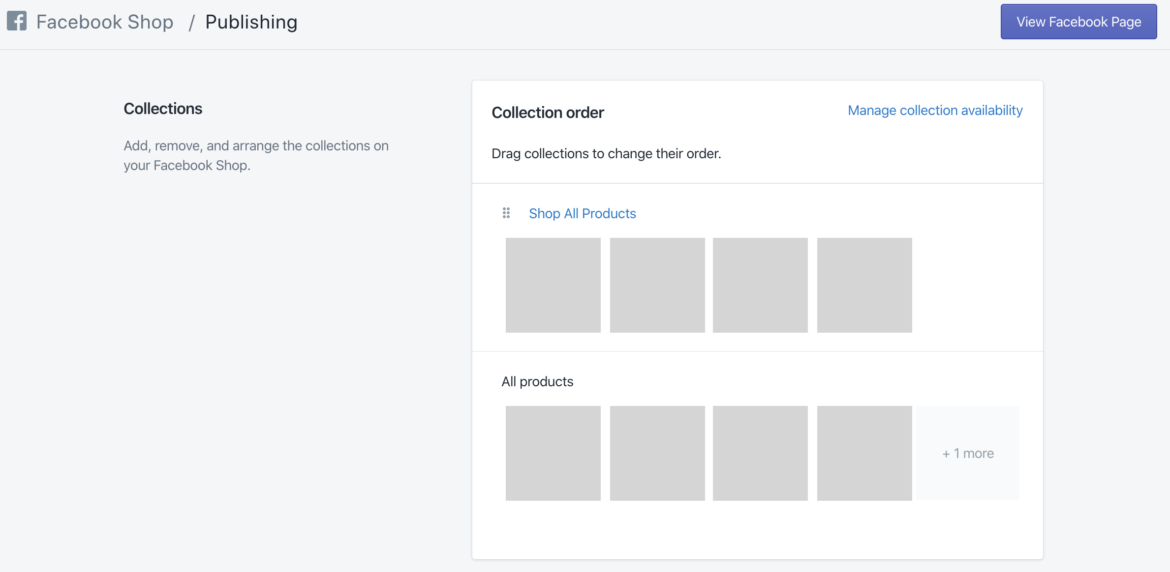 Facebook Shop Manage & Publish Products