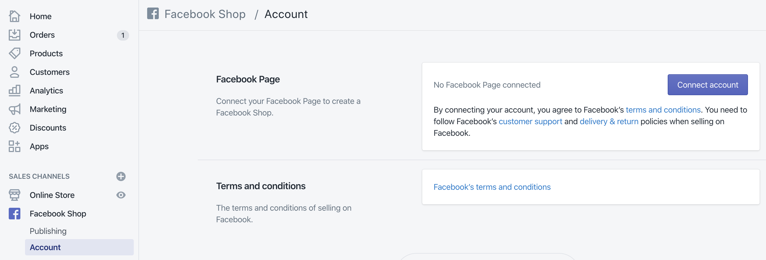Shopify Facebook Shop Setup