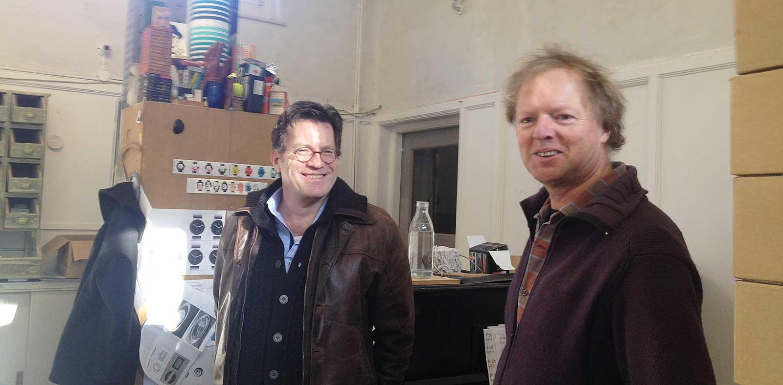 Godfried op bezoek in het atelier van Evert van der Molen