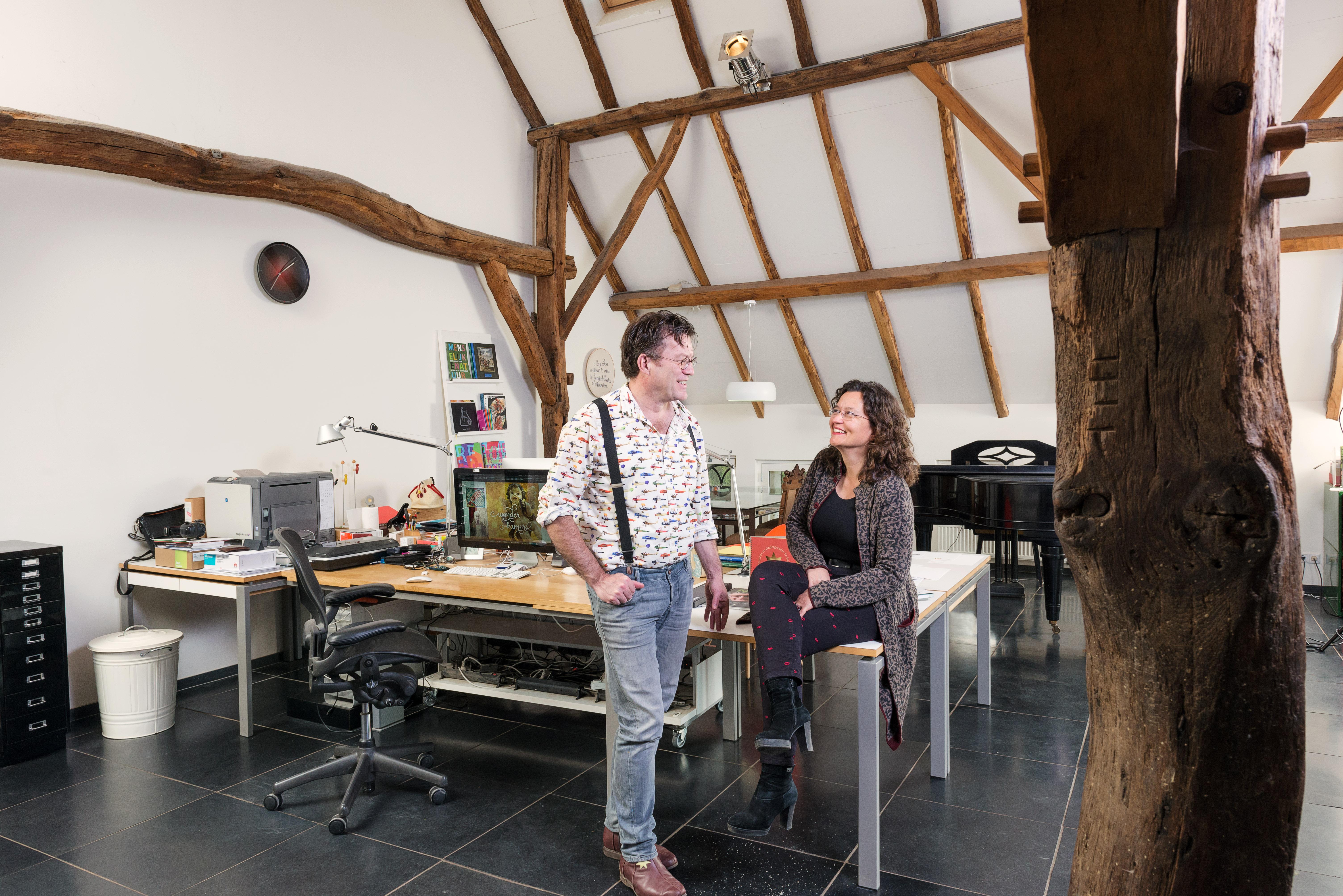Godfried en Marjorie: twee ervaren art directors in hun mooie ontwerpkantoor.