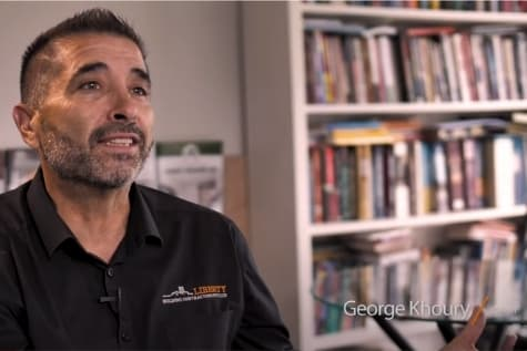 George Khoury discussing custom home building
