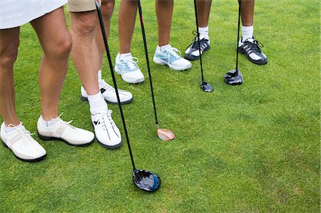 Group of Golf Shoes