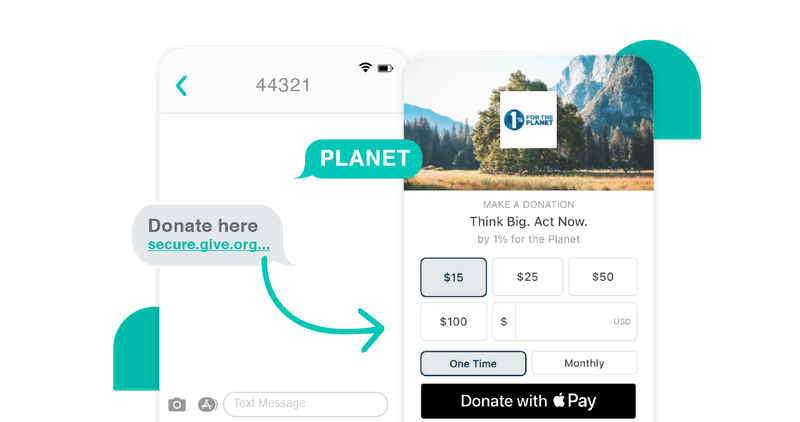 give lively text to donation example