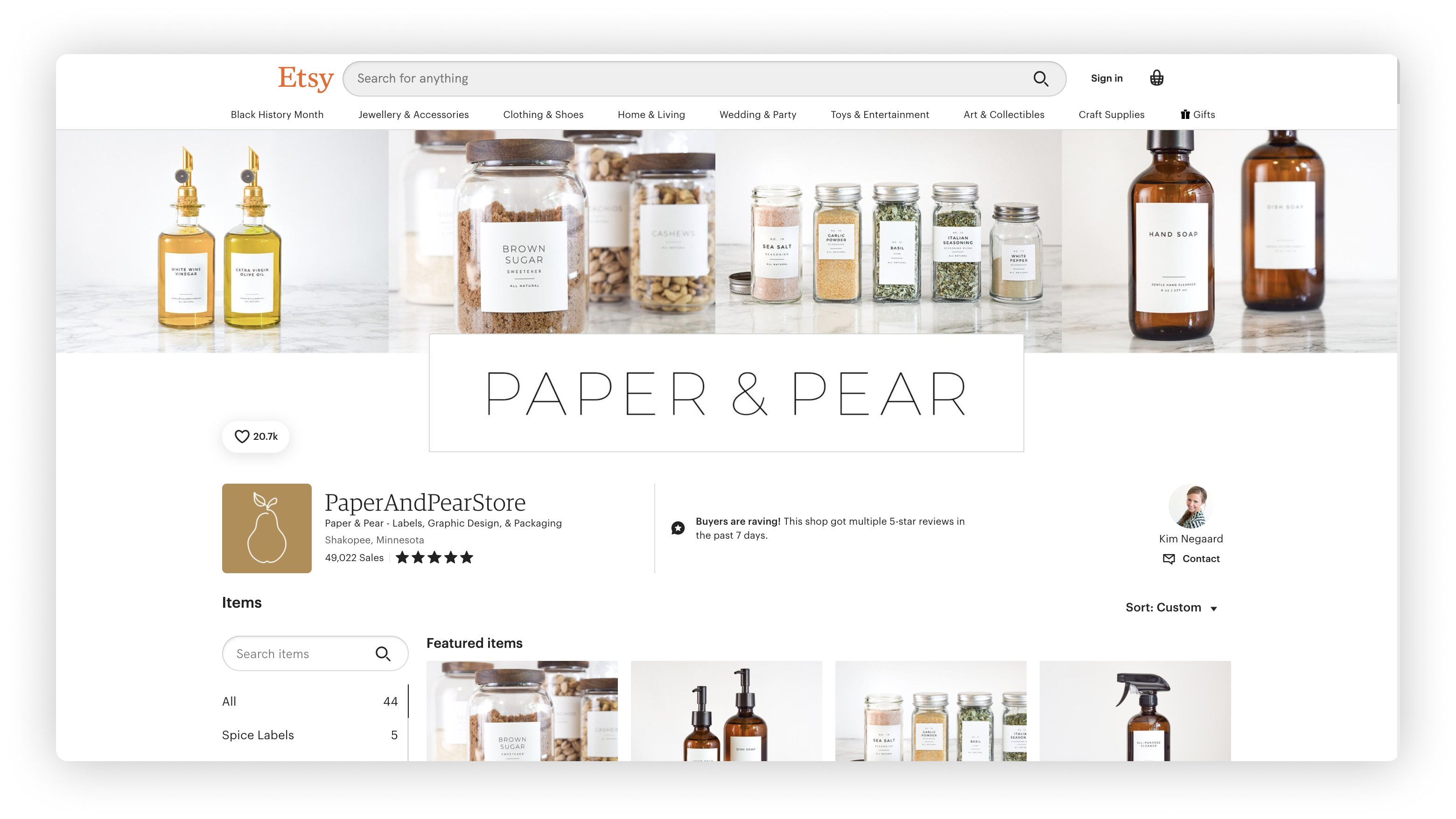 PaperAndPearStore