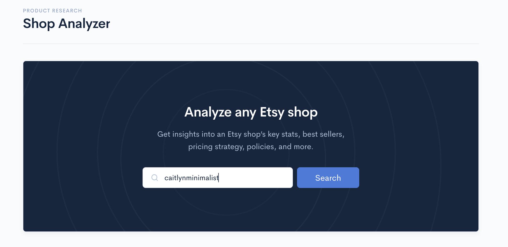 Alura Shop Analyzer - Search