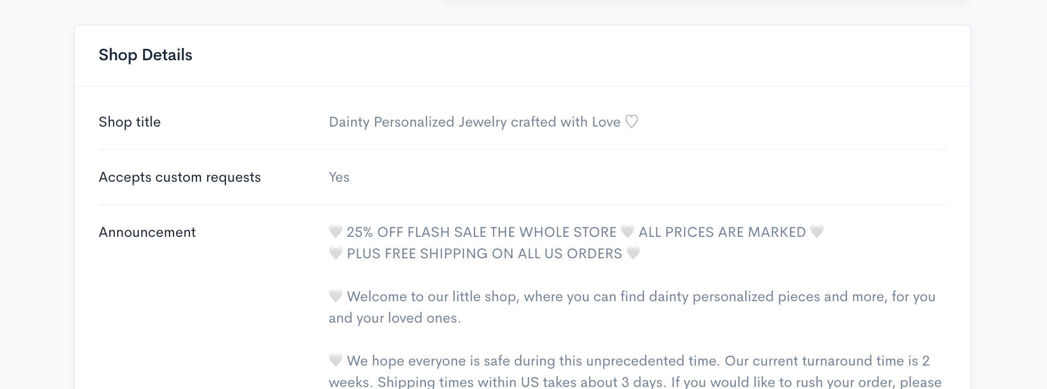 Alura - Shop details