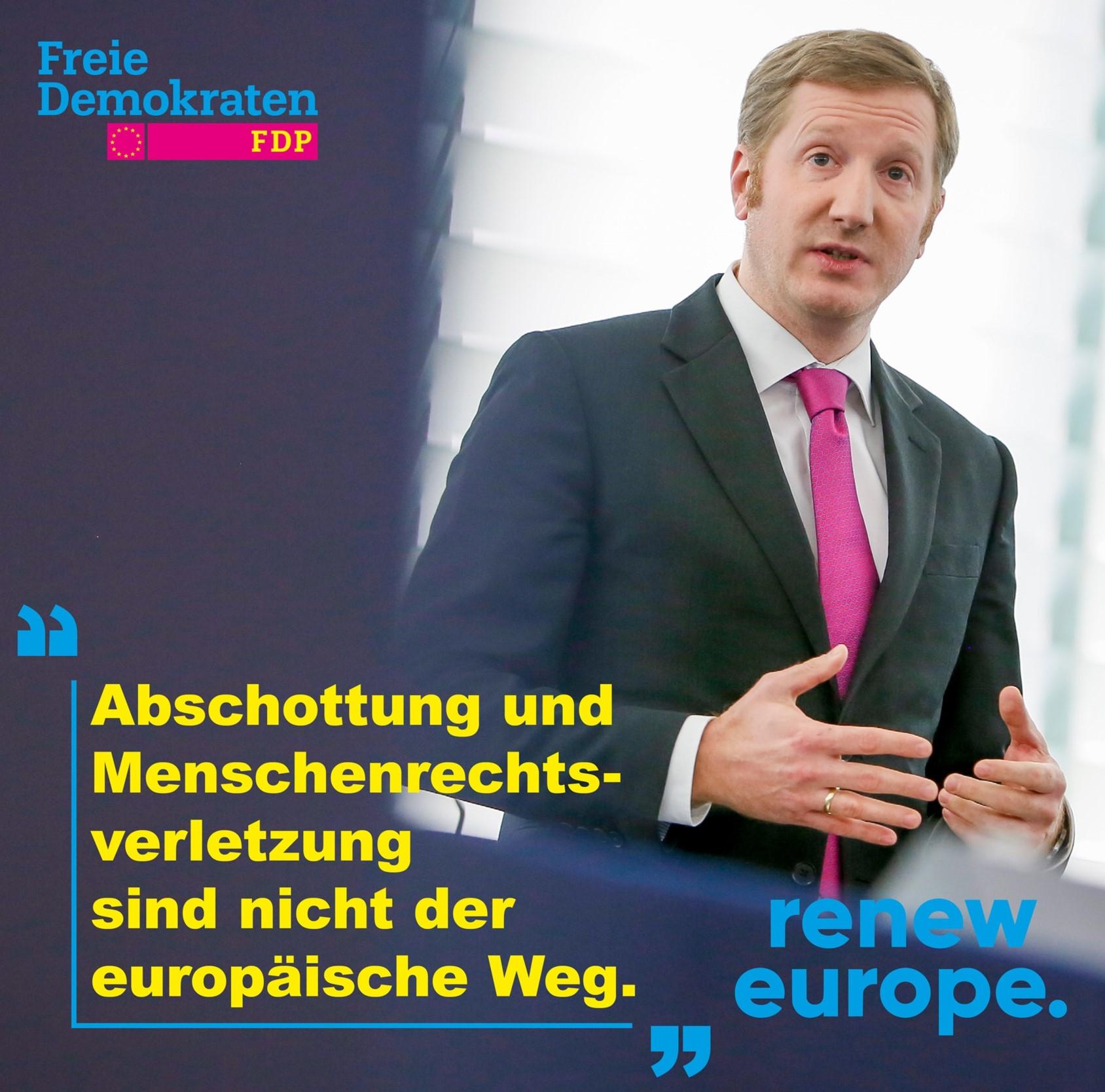 Abschottung und Menschenrechtsverletzung sind nicht der europäische Weg