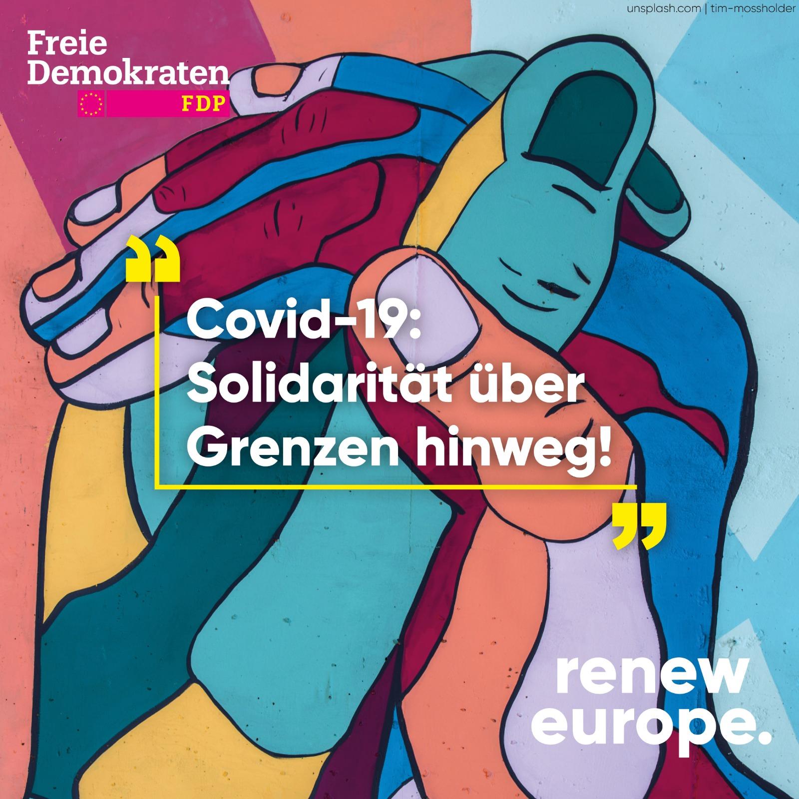 Covid-19: Solidarität über Grenzen hinweg
