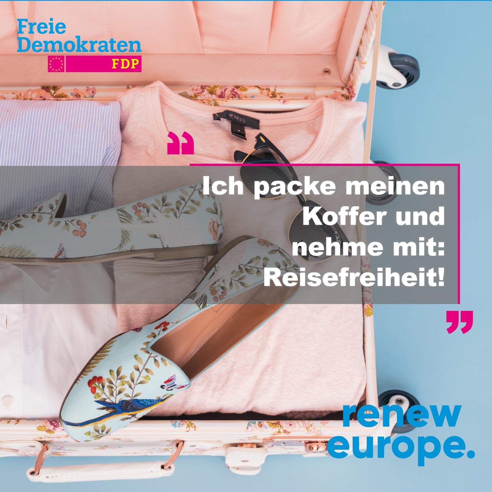 Ich packe meinen Koffer und nehme mit: Reisefreiheit!