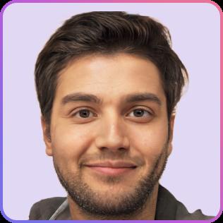 Dark-haired man smiling