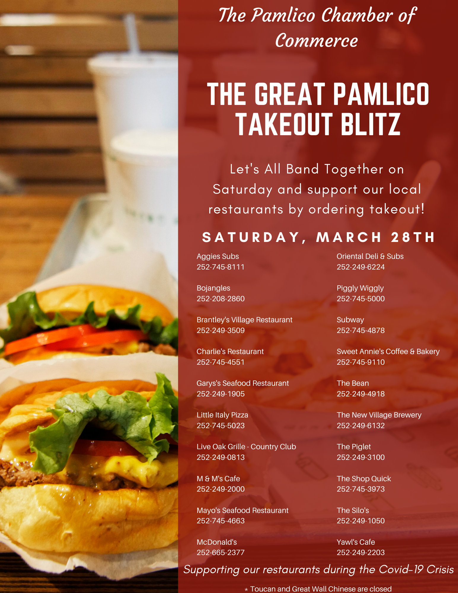 The Great Pamlico Takeout Blitz
